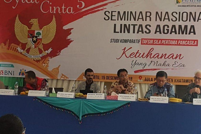 Sekjen ICHI, Ketut Budiasa, S.T., M.M. Menjadi Salah Satu Pembicara pada Seminar Nasional Lintas Agama.