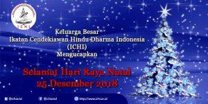 ICHI Mengucapkan, Selamat Hari Raya Natal, 25 Desember 2018