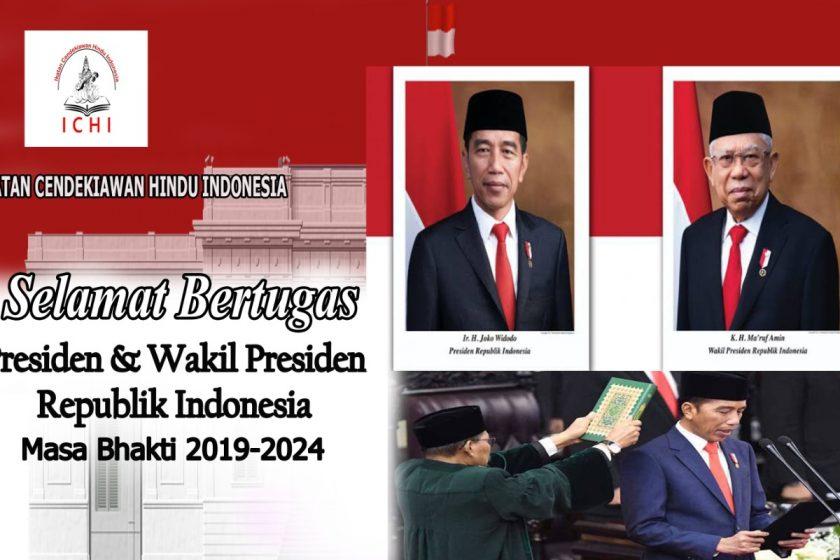 Selamat atas dilantiknya Presiden dan Wapres RI Periode 2019-2024