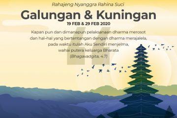 Selamat Galungan dan Kuningan 2020