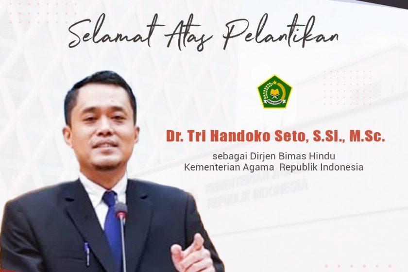 Ucapan Selamat atas dilantiknya Ketua Umum DPP ICHI sebagai Dirjen Bimas Hindu Kemenag RI