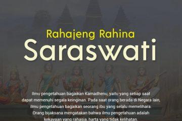 Hari Raya Saraswati 30 Januari 2021